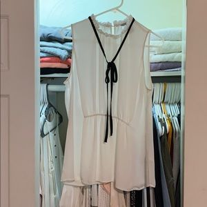 White shear blouse, dressy H&M